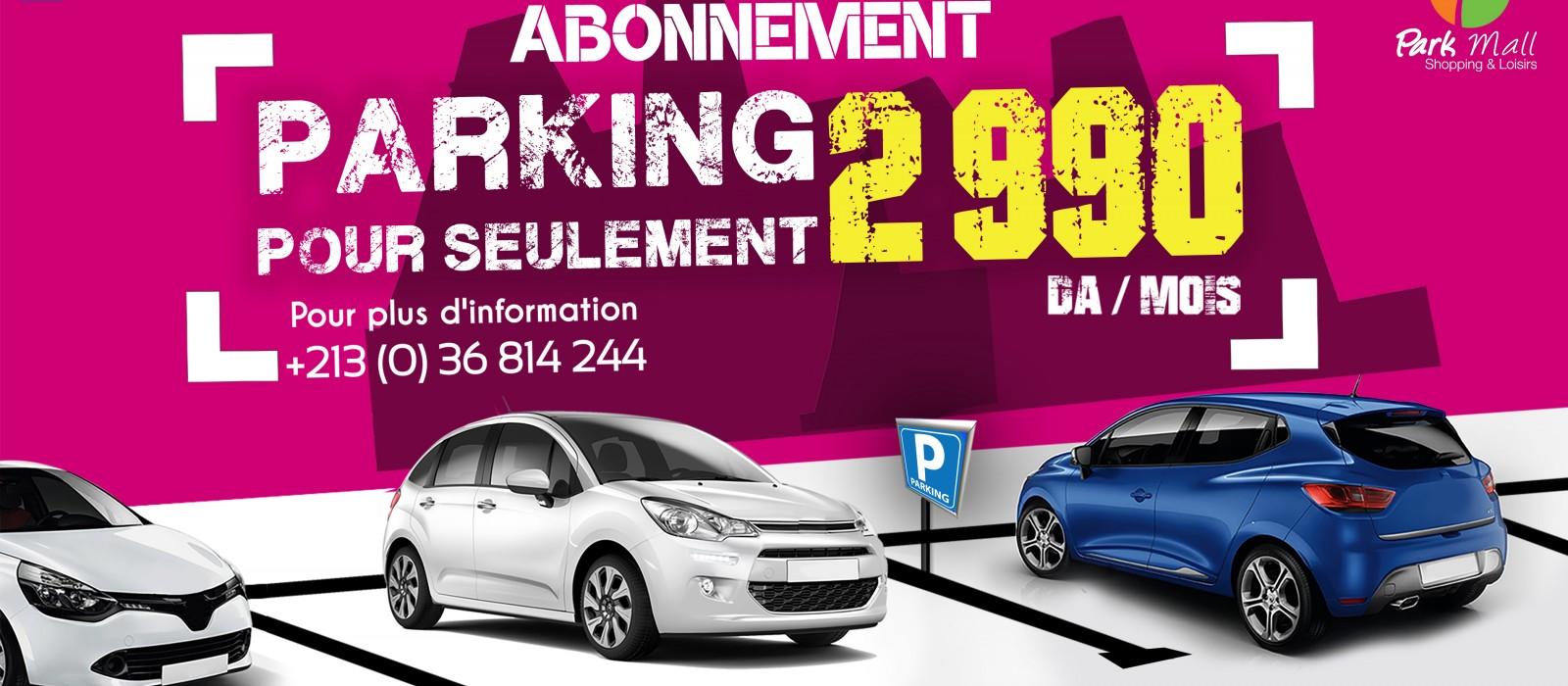 1400 places de Parking